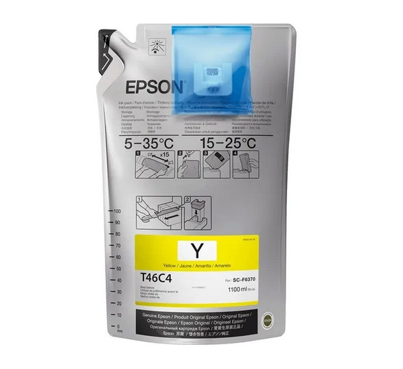 Bag de Tinta Sublimática Epson T46C4 Yellow UltraChrome 1100 ml F6370 F9470 F9470H