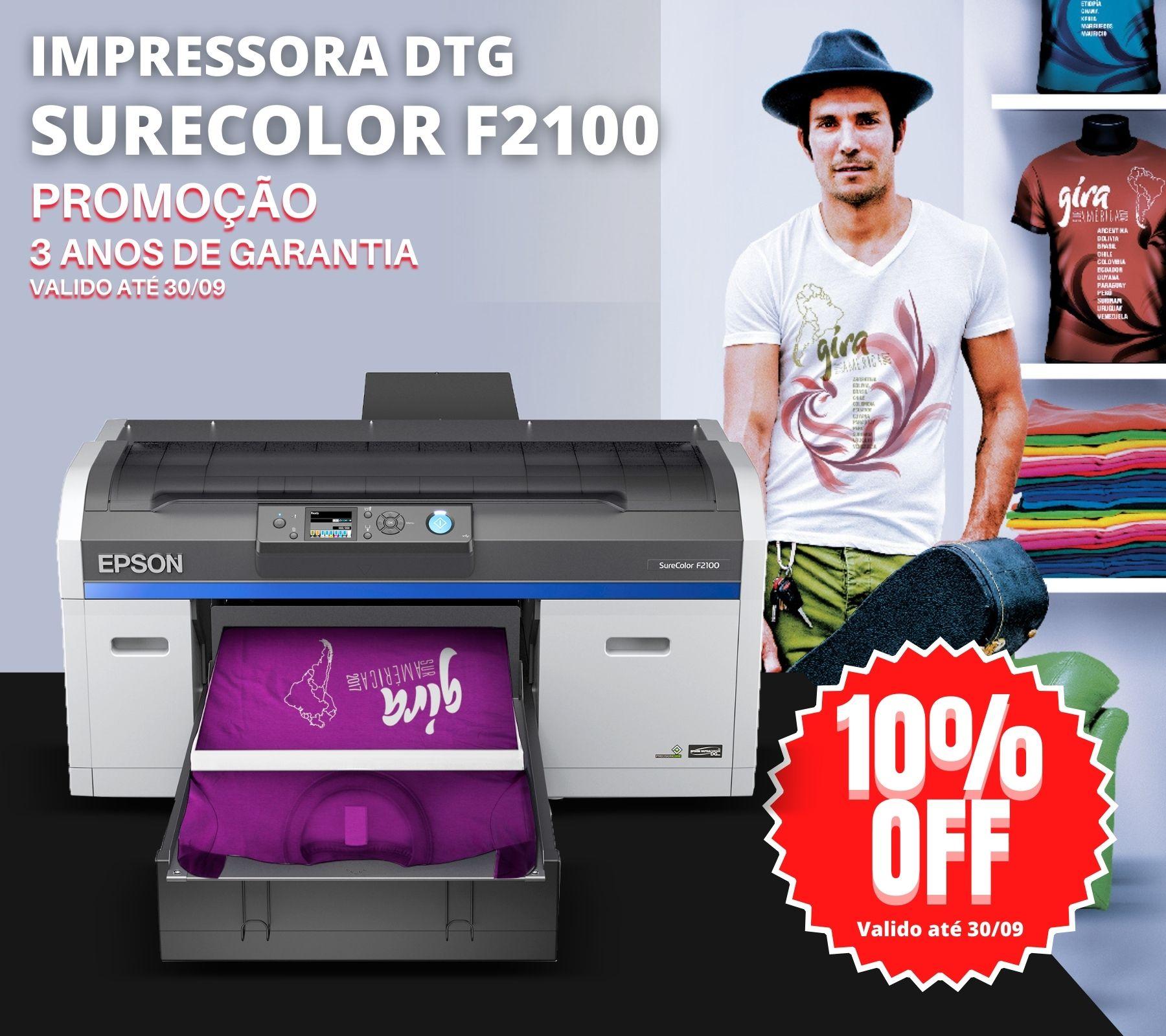 Impressora DTG -Direct to Garmet - Epson SureColor F2100